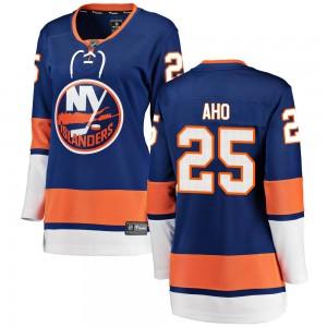 Fanatics Branded Sebastian Aho New York Islanders Women's Breakaway Home Jersey - Blue