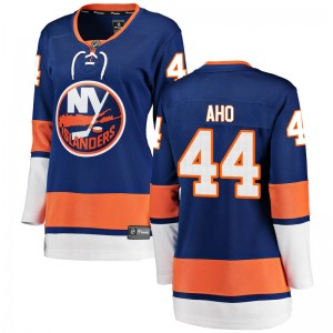 Fanatics Branded Sebastian Aho New York Islanders Women's Breakaway Home Jersey - Blue