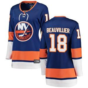Fanatics Branded Anthony Beauvillier New York Islanders Women's Breakaway Home Jersey - Blue