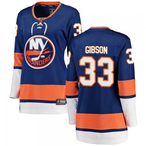 Fanatics Branded Christopher Gibson New York Islanders Women's Breakaway Home Jersey - Blue