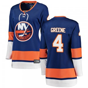 Fanatics Branded Andy Greene New York Islanders Women's ized Breakaway Home Jersey - Blue
