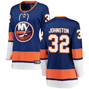 Fanatics Branded Ross Johnston New York Islanders Women's Breakaway Home Jersey - Blue