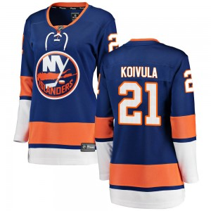 Fanatics Branded Otto Koivula New York Islanders Women's ized Breakaway Home Jersey - Blue
