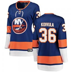 Fanatics Branded Otto Koivula New York Islanders Women's Breakaway Home Jersey - Blue