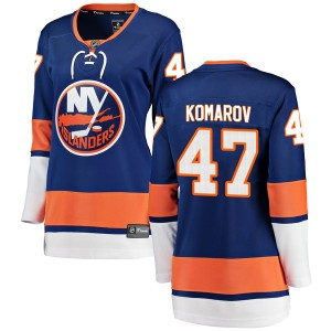 Fanatics Branded Leo Komarov New York Islanders Women's Breakaway Home Jersey - Blue