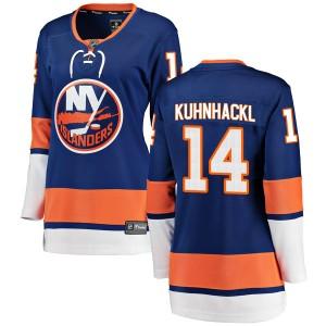 Fanatics Branded Tom Kuhnhackl New York Islanders Women's Breakaway Home Jersey - Blue