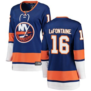 Fanatics Branded Pat LaFontaine New York Islanders Women's Breakaway Home Jersey - Blue