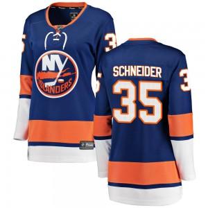 Fanatics Branded Cory Schneider New York Islanders Women's Breakaway Home Jersey - Blue
