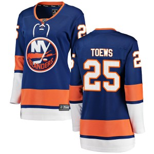 Fanatics Branded Devon Toews New York Islanders Women's Breakaway Home Jersey - Blue