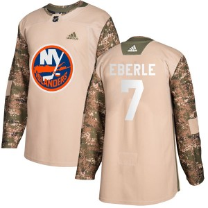 Adidas Jordan Eberle New York Islanders Men's Authentic Veterans Day Practice Jersey - Camo