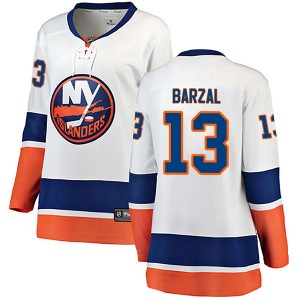 Fanatics Branded Mathew Barzal New York Islanders Women's Breakaway Away Jersey - White
