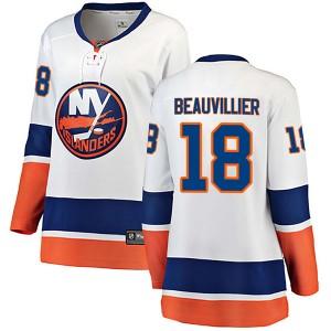 Fanatics Branded Anthony Beauvillier New York Islanders Women's Breakaway Away Jersey - White
