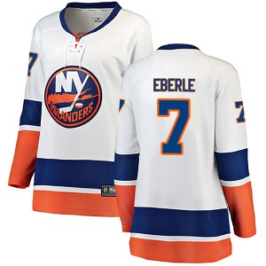 Fanatics Branded Jordan Eberle New York Islanders Women's Breakaway Away Jersey - White