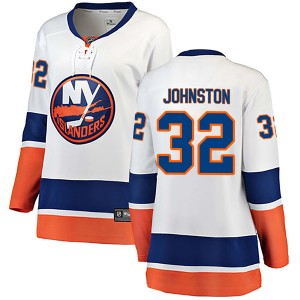 Fanatics Branded Ross Johnston New York Islanders Women's Breakaway Away Jersey - White
