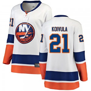 Fanatics Branded Otto Koivula New York Islanders Women's ized Breakaway Away Jersey - White