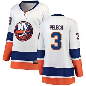 Fanatics Branded Adam Pelech New York Islanders Women's Breakaway Away Jersey - White