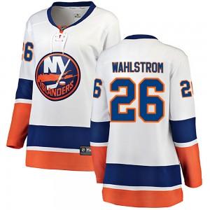 Fanatics Branded Oliver Wahlstrom New York Islanders Women's Breakaway Away Jersey - White
