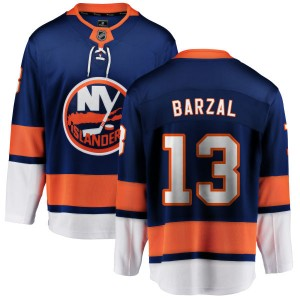Fanatics Branded Mathew Barzal New York Islanders Men's Home Breakaway Jersey - Blue
