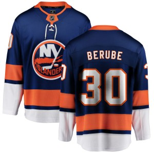 Fanatics Branded Jean-Francois Berube New York Islanders Men's Home Breakaway Jersey - Blue