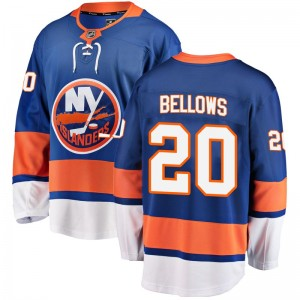 Fanatics Branded Kieffer Bellows New York Islanders Youth Breakaway Home Jersey - Blue