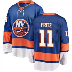 Fanatics Branded Tanner Fritz New York Islanders Youth Breakaway Home Jersey - Blue