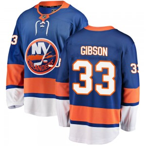 Fanatics Branded Christopher Gibson New York Islanders Youth ized Breakaway Home Jersey - Blue