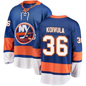 Fanatics Branded Otto Koivula New York Islanders Youth Breakaway Home Jersey - Blue