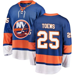 Fanatics Branded Devon Toews New York Islanders Youth Breakaway Home Jersey - Blue