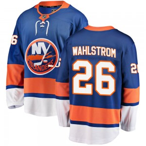 Fanatics Branded Oliver Wahlstrom New York Islanders Youth Breakaway Home Jersey - Blue
