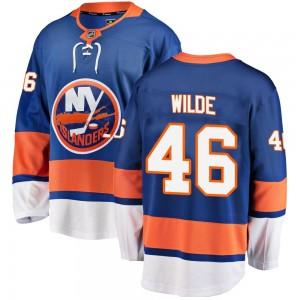 Fanatics Branded Bode Wilde New York Islanders Youth Breakaway Home Jersey - Blue