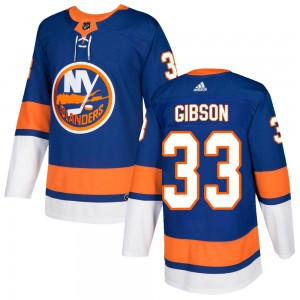 Adidas Christopher Gibson New York Islanders Men's Authentic ized Home Jersey - Royal