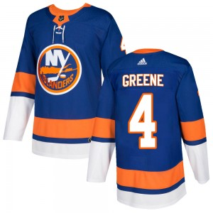 Adidas Andy Greene New York Islanders Men's Authentic ized Royal Home Jersey - Green