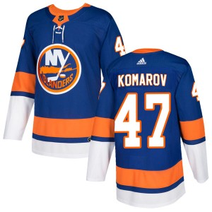 Adidas Leo Komarov New York Islanders Men's Authentic Home Jersey - Royal