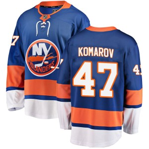 Fanatics Branded Leo Komarov New York Islanders Men's Breakaway Home Jersey - Blue