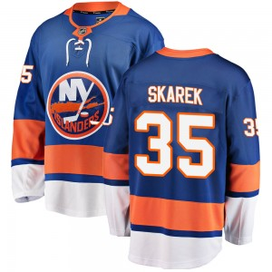 Fanatics Branded Jakub Skarek New York Islanders Men's Breakaway Home Jersey - Blue