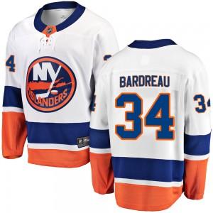 Fanatics Branded Cole Bardreau New York Islanders Men's Breakaway Away Jersey - White