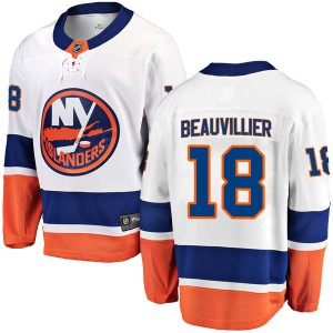 Fanatics Branded Anthony Beauvillier New York Islanders Men's Breakaway Away Jersey - White