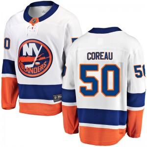 Fanatics Branded Jared Coreau New York Islanders Men's Breakaway Away Jersey - White