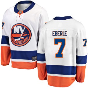 Fanatics Branded Jordan Eberle New York Islanders Men's Breakaway Away Jersey - White