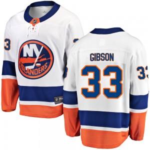 Fanatics Branded Christopher Gibson New York Islanders Men's ized Breakaway Away Jersey - White