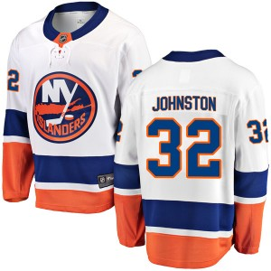 Fanatics Branded Ross Johnston New York Islanders Men's Breakaway Away Jersey - White