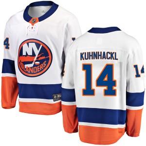 Fanatics Branded Tom Kuhnhackl New York Islanders Men's Breakaway Away Jersey - White