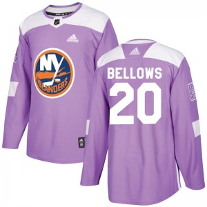Adidas Kieffer Bellows New York Islanders Youth Authentic Fights Cancer Practice Jersey - Purple