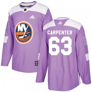 Adidas Bobo Carpenter New York Islanders Youth Authentic Fights Cancer Practice Jersey - Purple