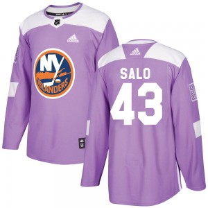 Adidas Robin Salo New York Islanders Youth Authentic Fights Cancer Practice Jersey - Purple