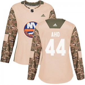 Adidas Sebastian Aho New York Islanders Women's Authentic Veterans Day Practice Jersey - Camo