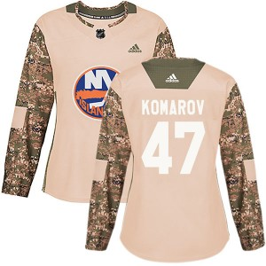 Adidas Leo Komarov New York Islanders Women's Authentic Veterans Day Practice Jersey - Camo