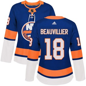 Adidas Anthony Beauvillier New York Islanders Women's Authentic Home Jersey - Royal