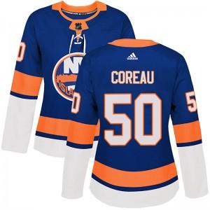 Adidas Jared Coreau New York Islanders Women's Authentic Home Jersey - Royal