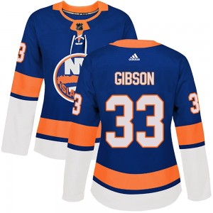 Adidas Christopher Gibson New York Islanders Women's Authentic ized Home Jersey - Royal